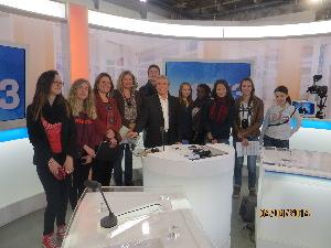 le plateau du journal en compagnie de Pierre Nicolas